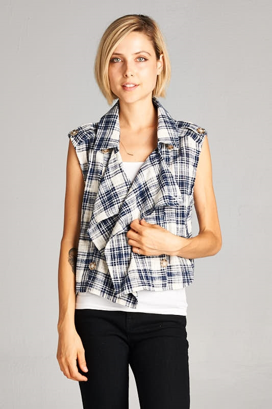 ELLI PLAID TOP - orangeshine.com