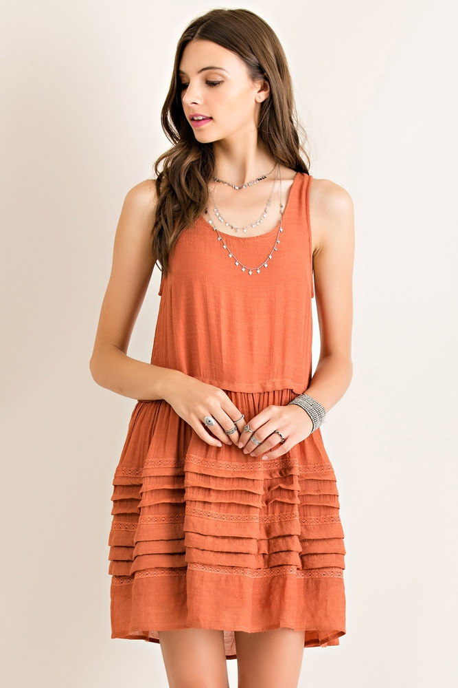 sleeveless babydoll dress - orangeshine.com