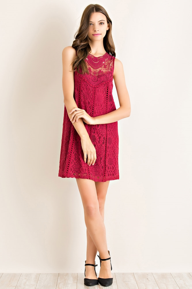 Floral Lace Dress - orangeshine.com