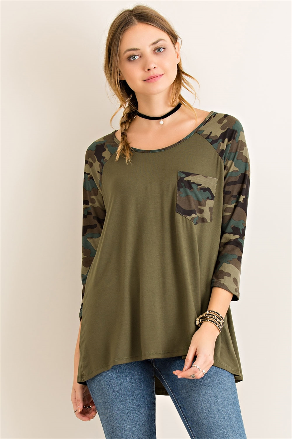 Camouflage Baseball Top - orangeshine.com