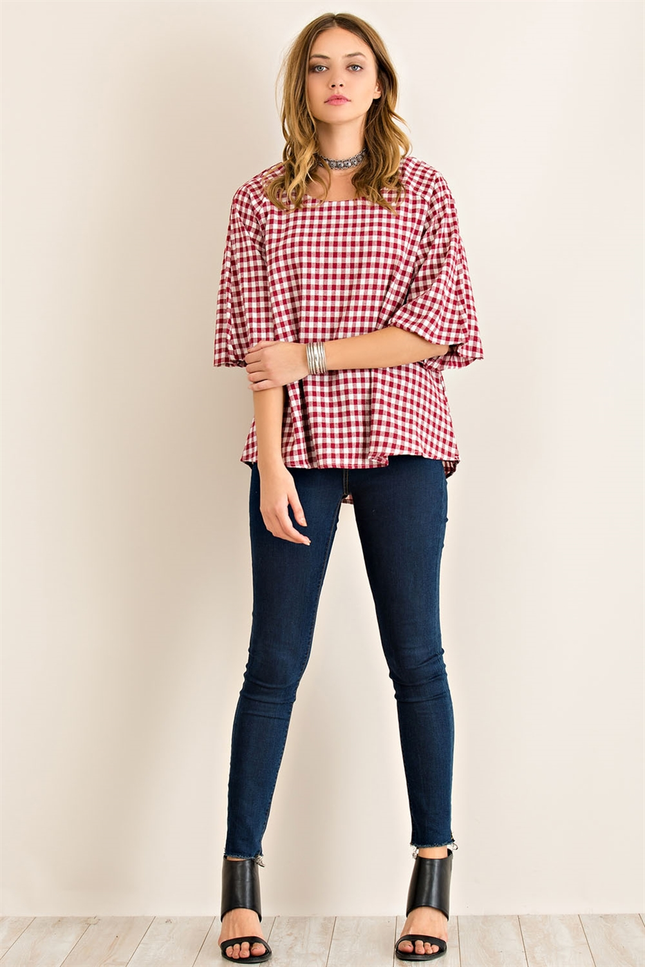 Loose Fitted High Low Blouse - orangeshine.com