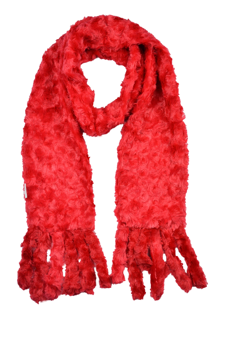 Rose Shape Faux Fur Scarf - orangeshine.com