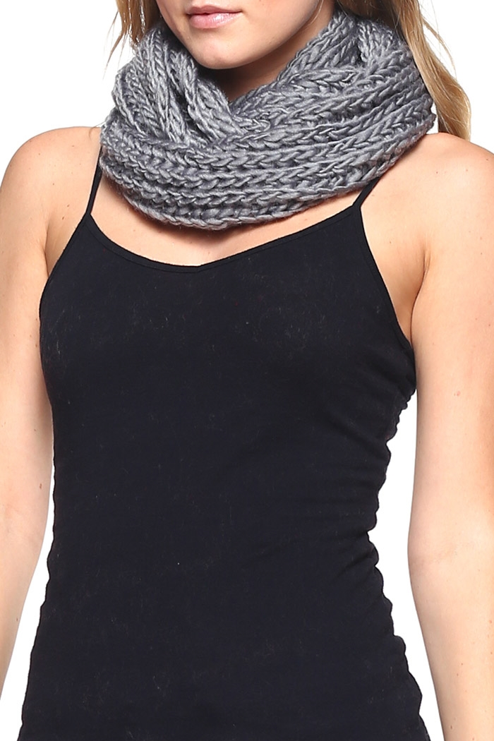 Knitted Infinity Scarves - orangeshine.com