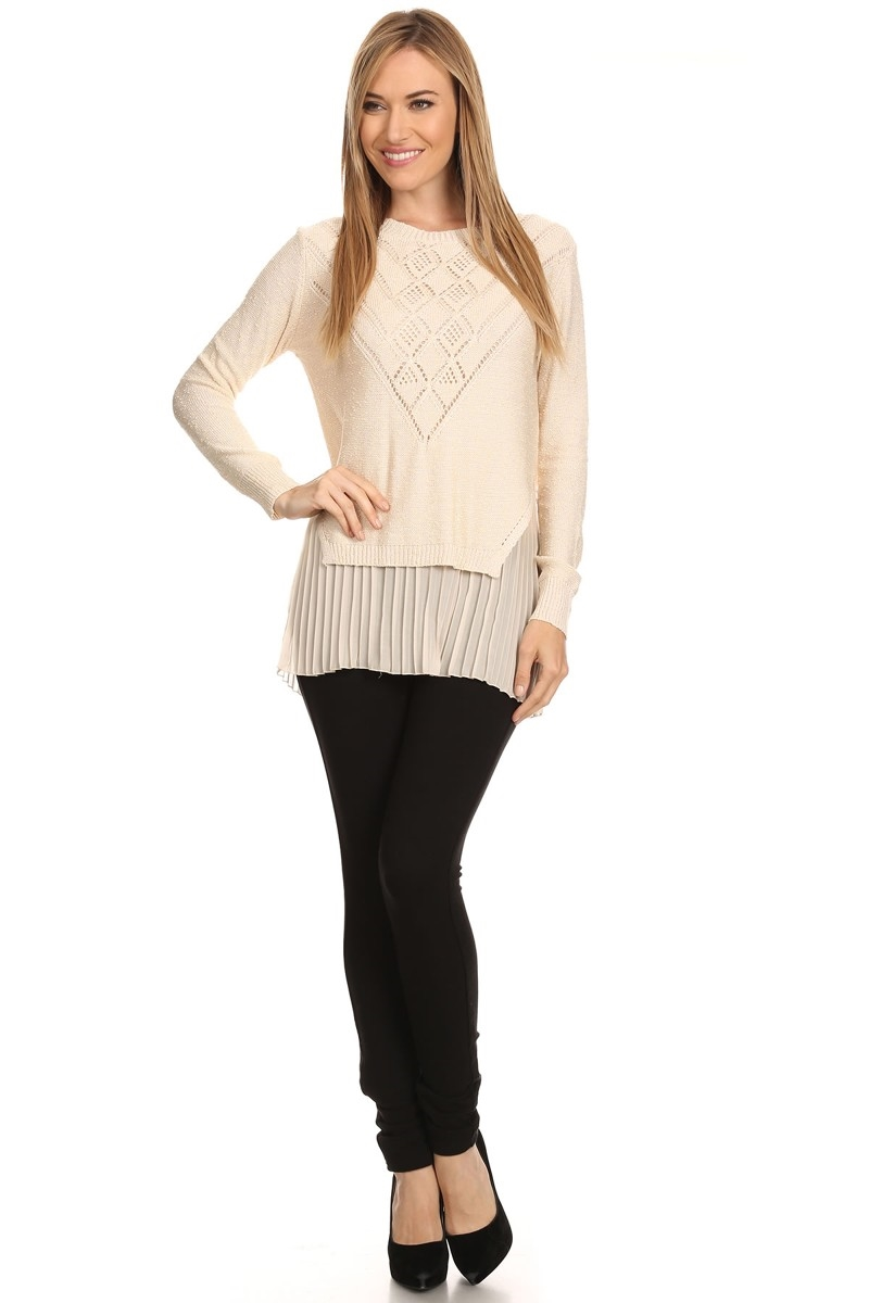 Knit light sweater - orangeshine.com