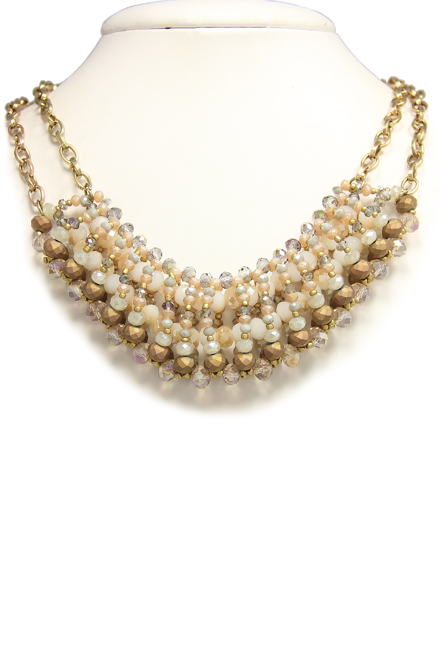 CLUSTER BEADED BIB NECKLACE - orangeshine.com