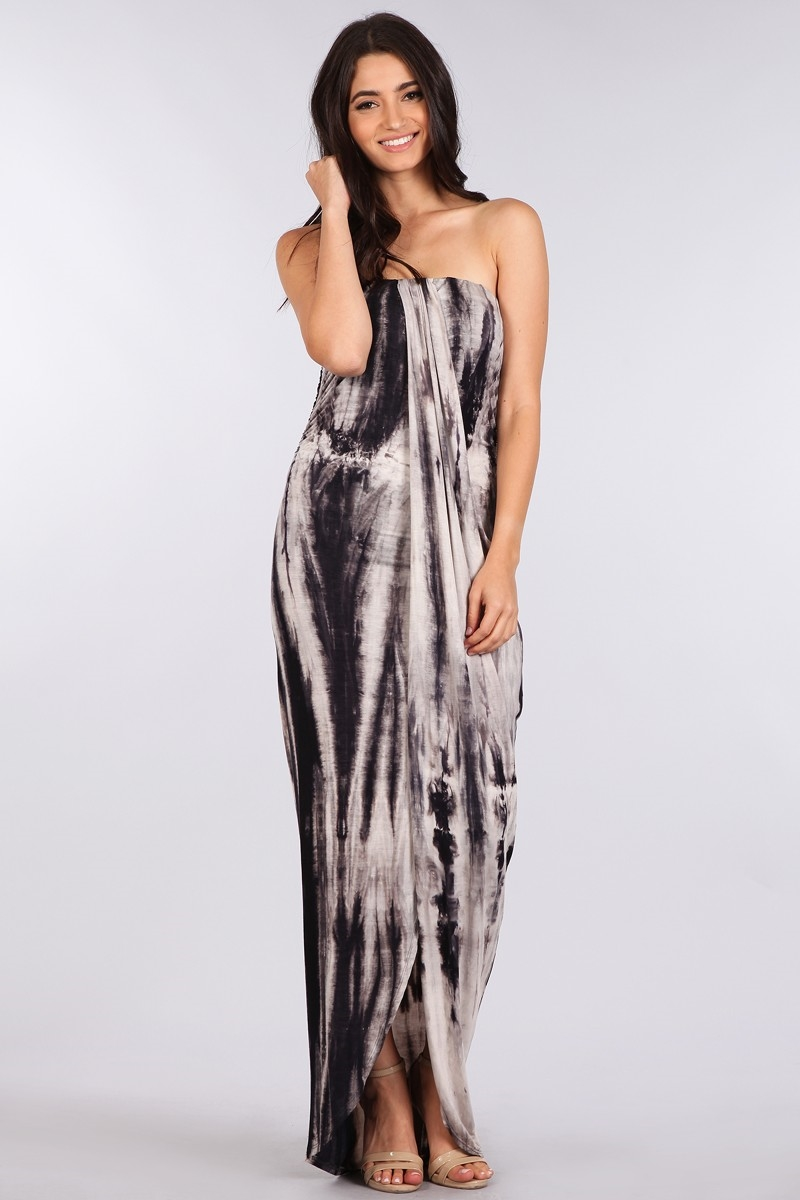 TIE DYE TUBE MAXI  DRESS - orangeshine.com