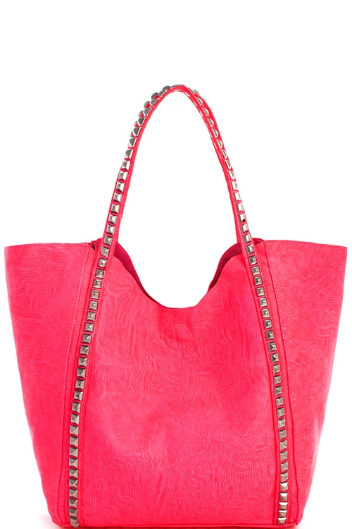 2in1 Neon Chic Tote with Long - orangeshine.com