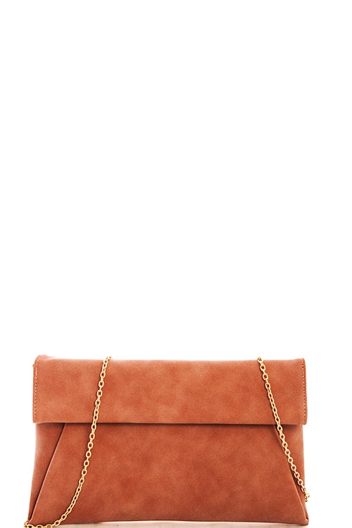 Fashion Suede Princess Clutch - orangeshine.com