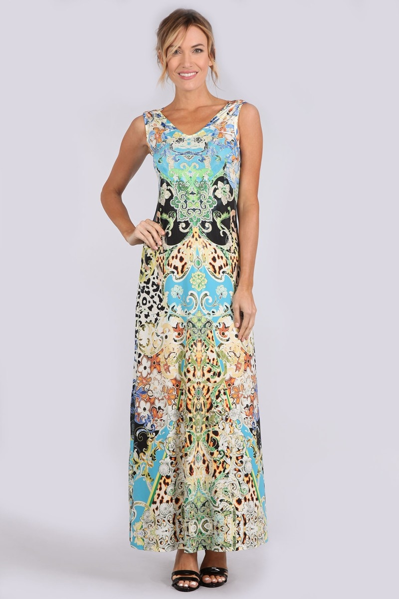 SUBLIMATION MAXI DRESS - orangeshine.com