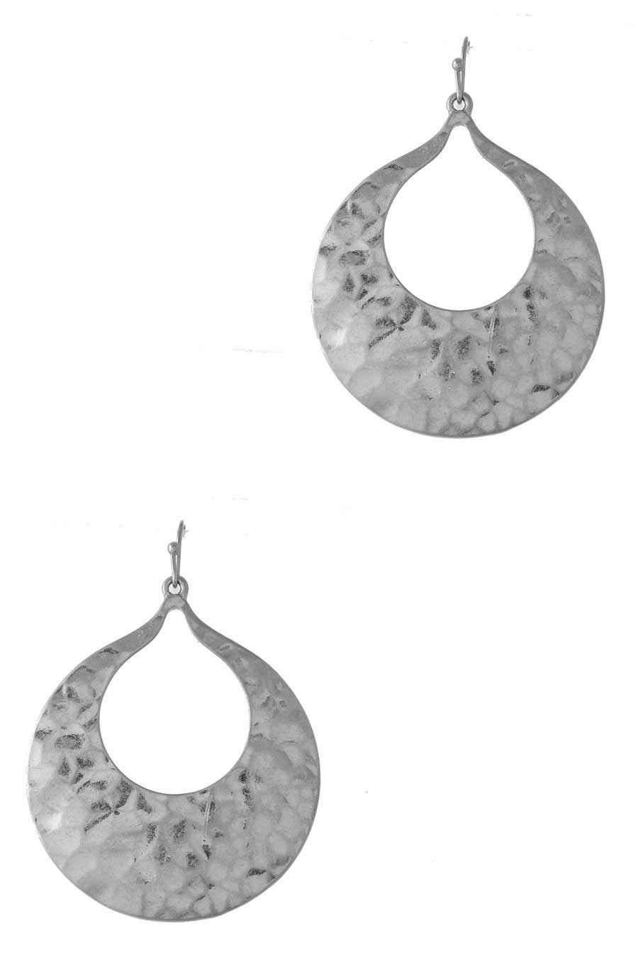 SHINY HAMMERED DROP EARRING - orangeshine.com