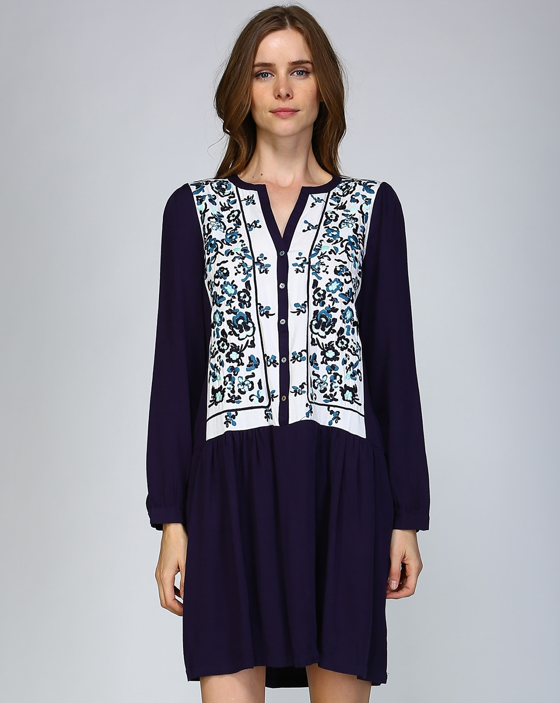 EMBROIDERY TUNIC DRESS - orangeshine.com