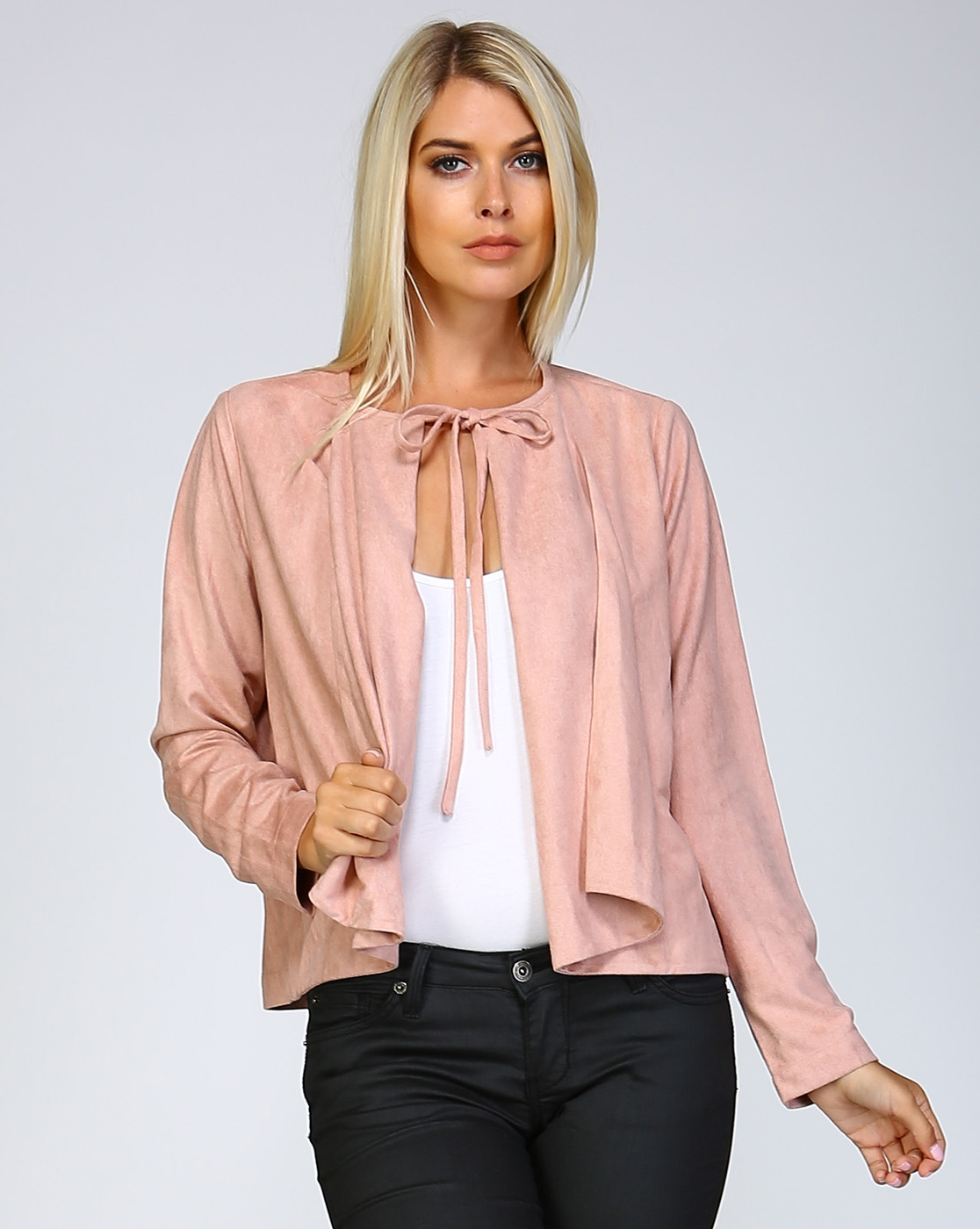 SUEDE CROP JACKET - orangeshine.com