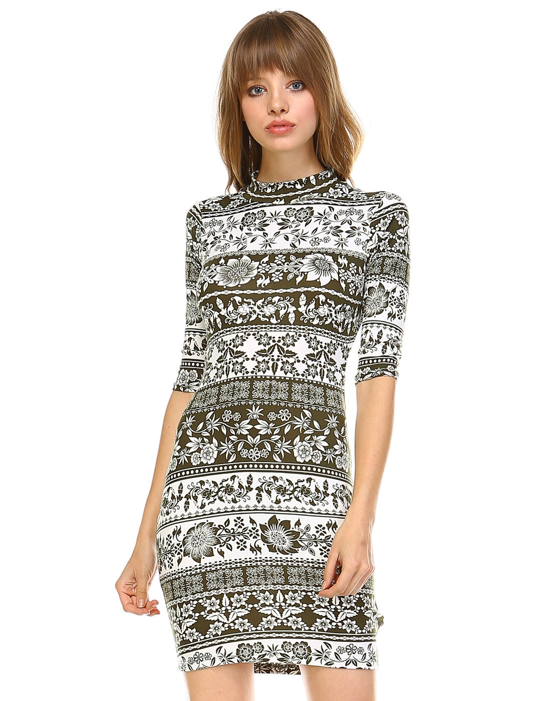 PRINT MINI DRESS - orangeshine.com