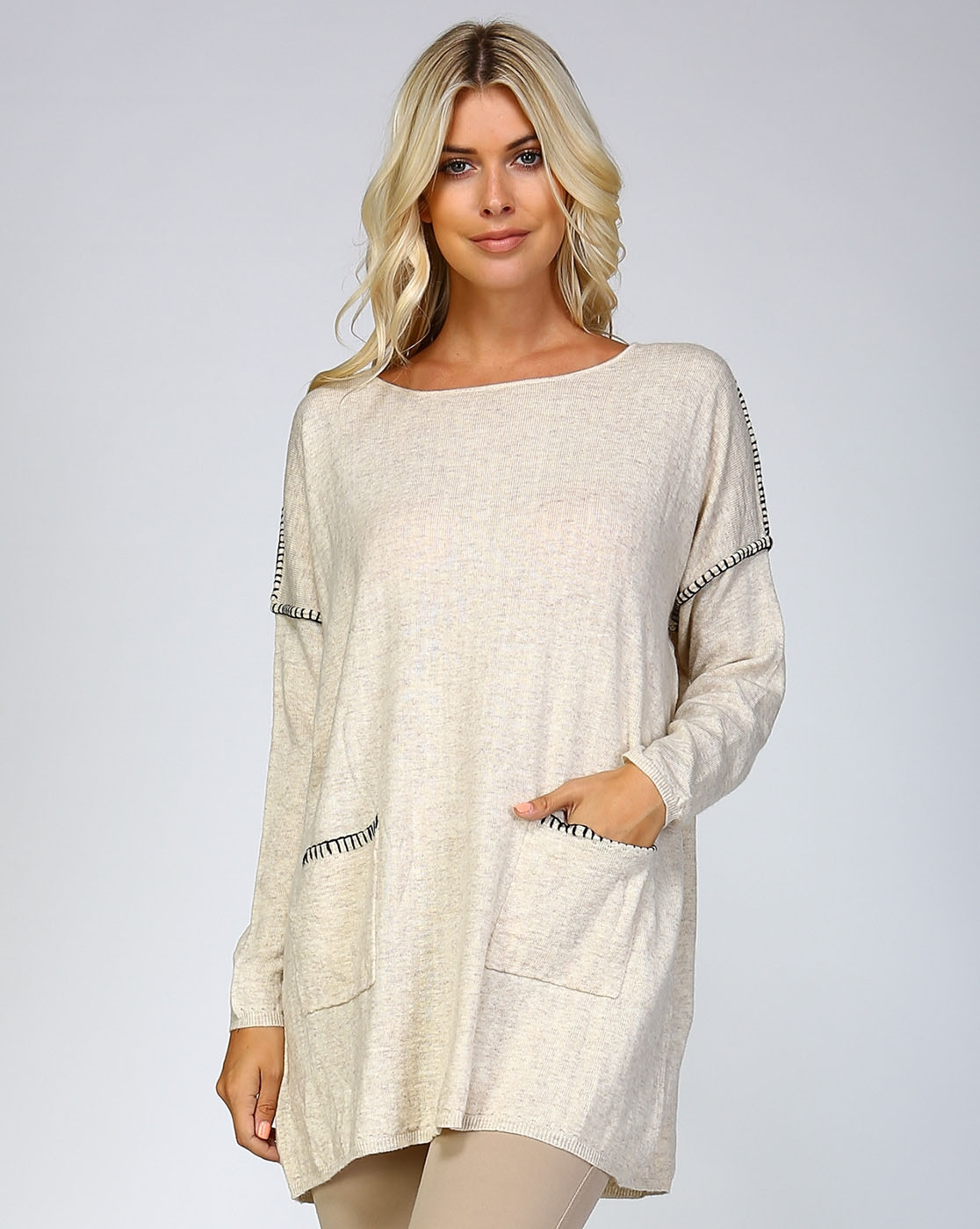 YARN STITCHED SWEATER DRESS - orangeshine.com