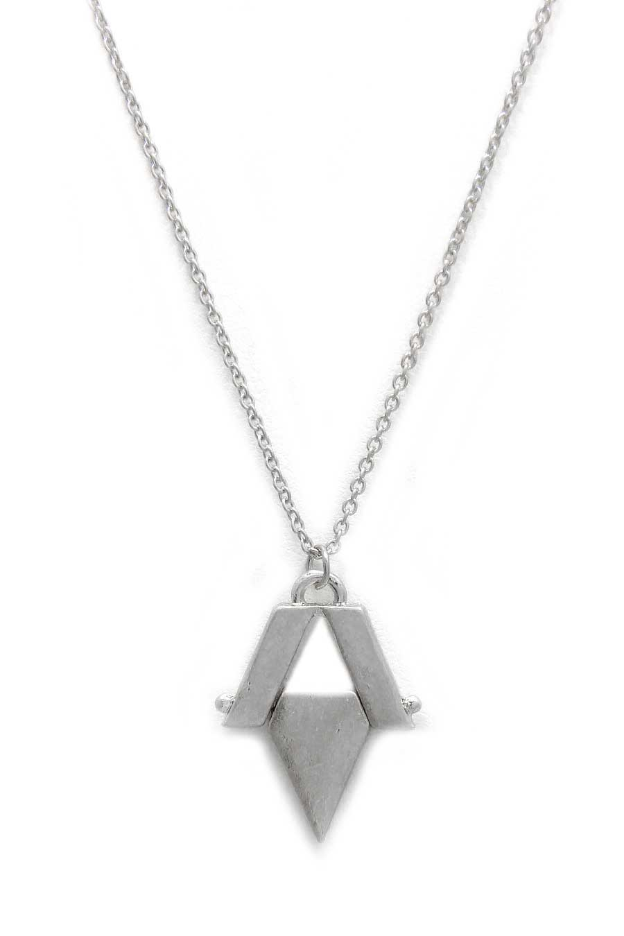 DIAMOND SHAPE NECKLACE - orangeshine.com