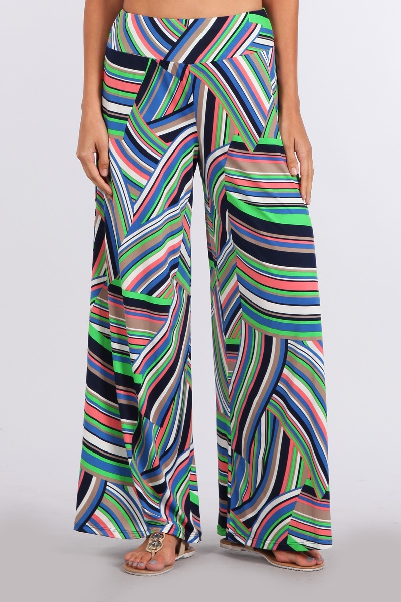 HIGH WAISTED PALAZZO PANTS - orangeshine.com