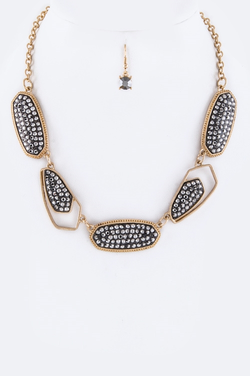 Paved Crystals Necklace - orangeshine.com