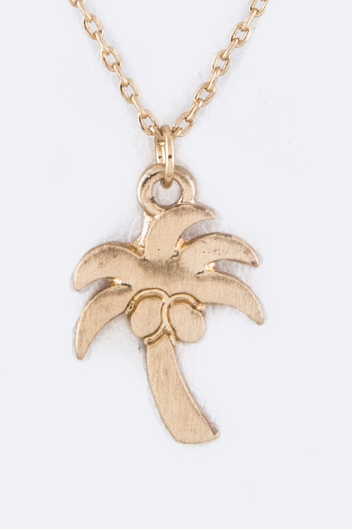 Petite Coconut Tree Necklace - orangeshine.com