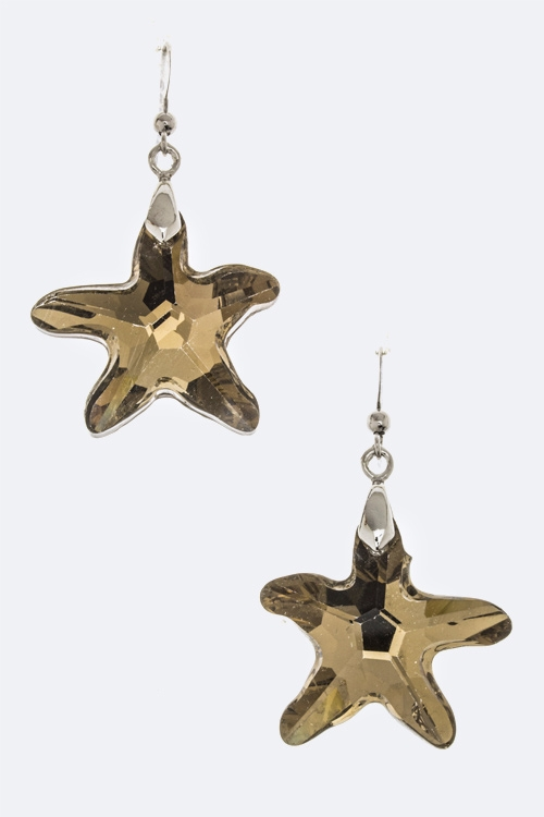Star Crystal Earrings - orangeshine.com
