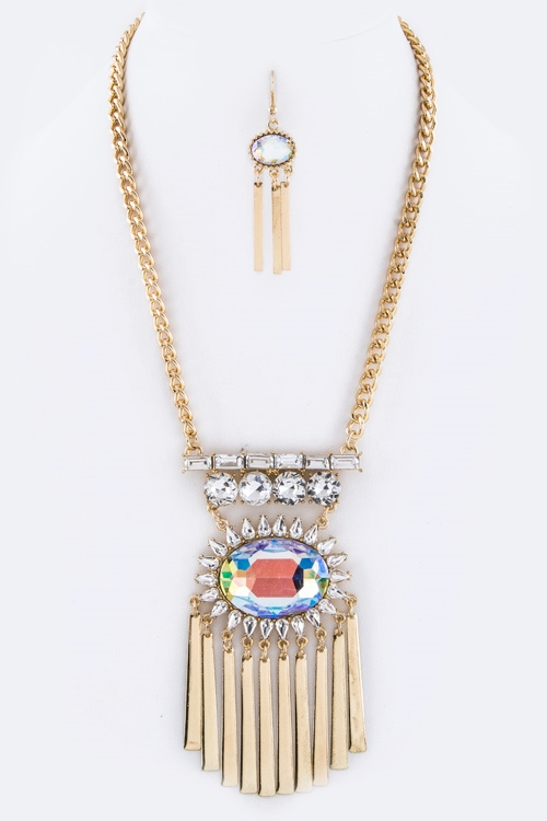Fringe Bars Necklace - orangeshine.com