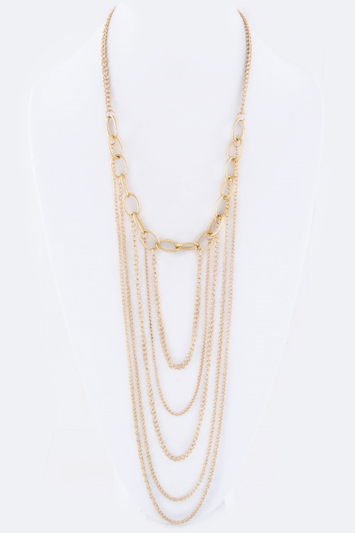 Layer Chains Necklace - orangeshine.com