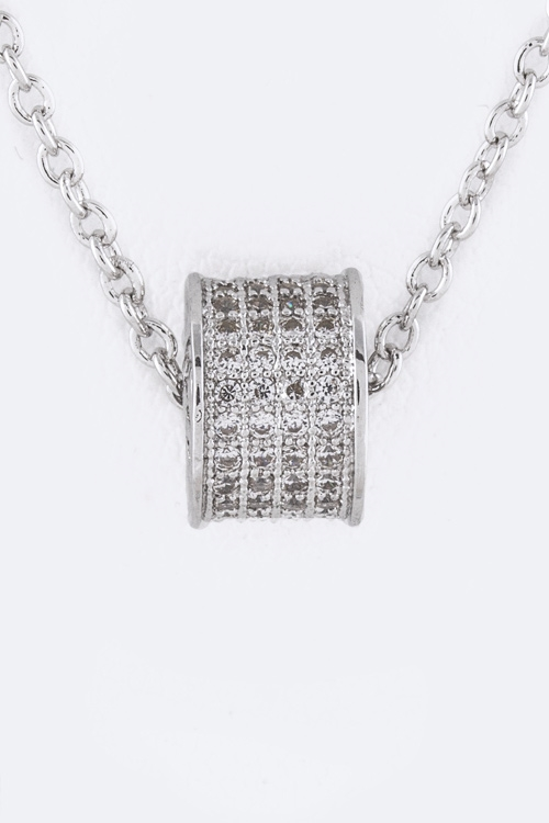 Petite CZ Ring Necklace - orangeshine.com