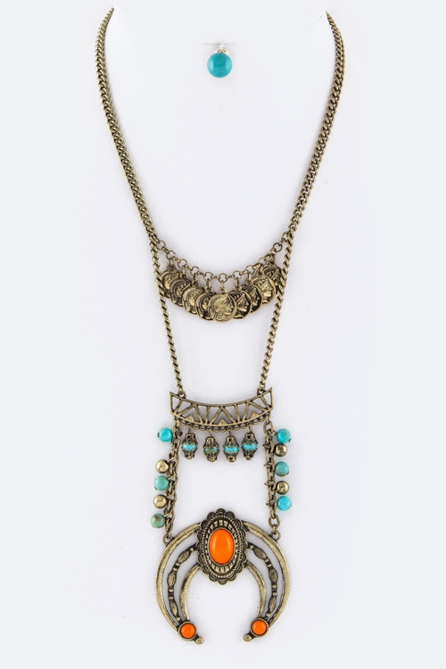 Fringe Coins Necklace - orangeshine.com