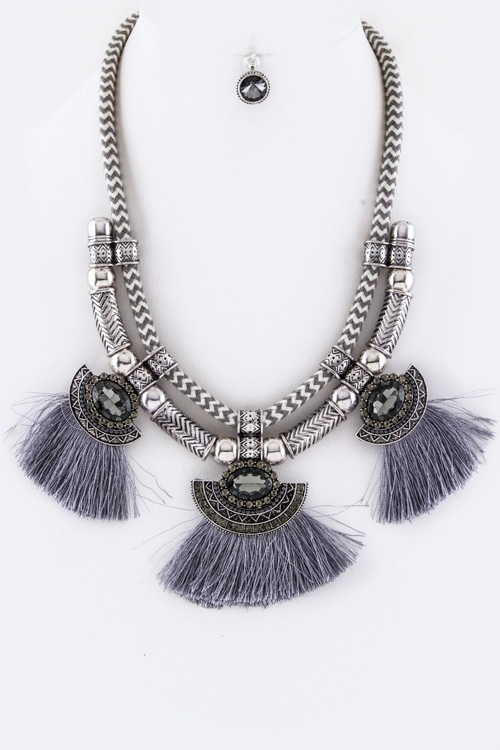 Collar Statement Necklace Set - orangeshine.com