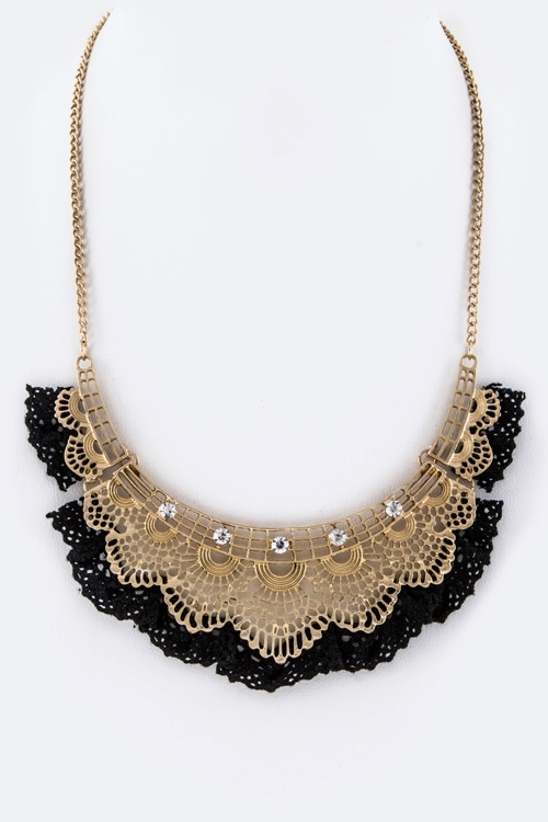 Lace   Collar Necklace - orangeshine.com