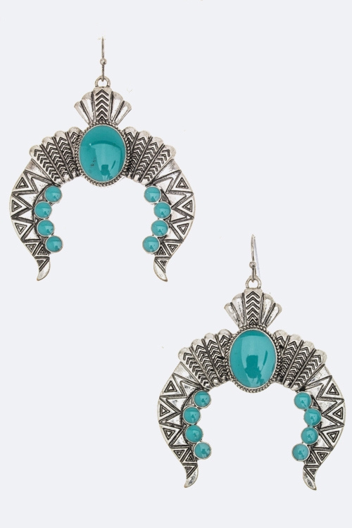 Ornate Horseshoe Earrings - orangeshine.com