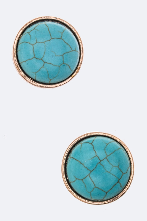 Turquoise Clip-On Earrings - orangeshine.com