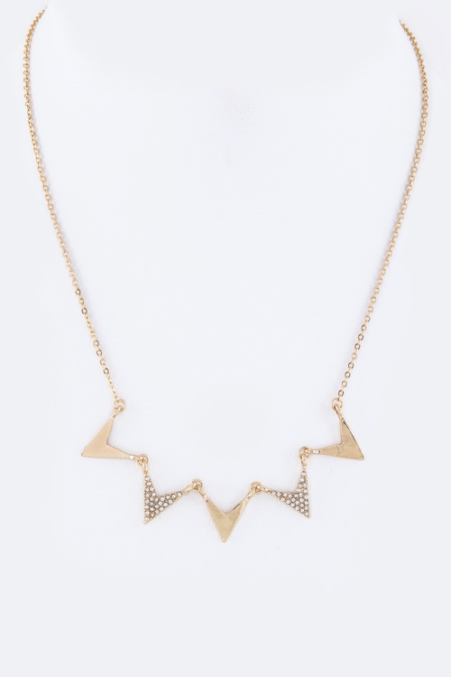 Linked Arrows Necklace - orangeshine.com