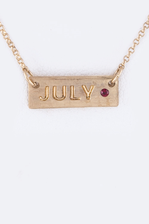 July Tag Necklace - orangeshine.com