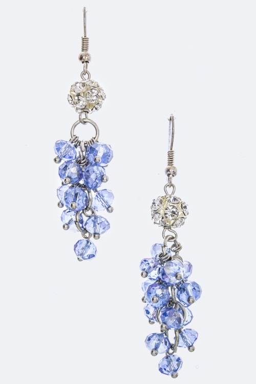 Crystal Ball  Bead Earrings - orangeshine.com
