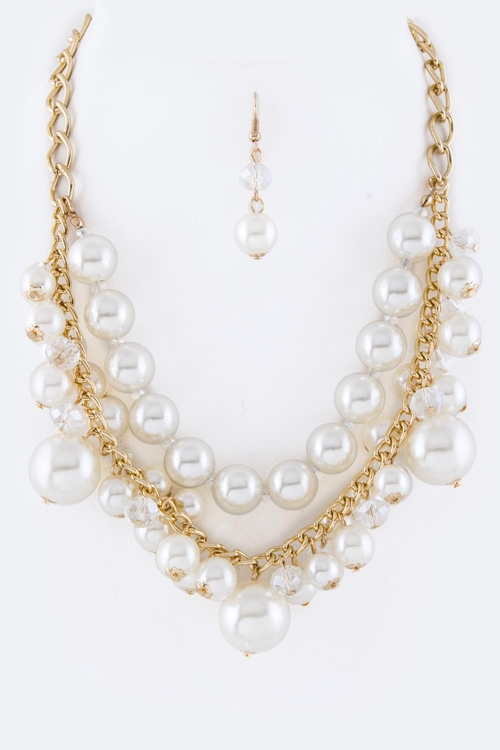 Layer Pearls Necklace - orangeshine.com