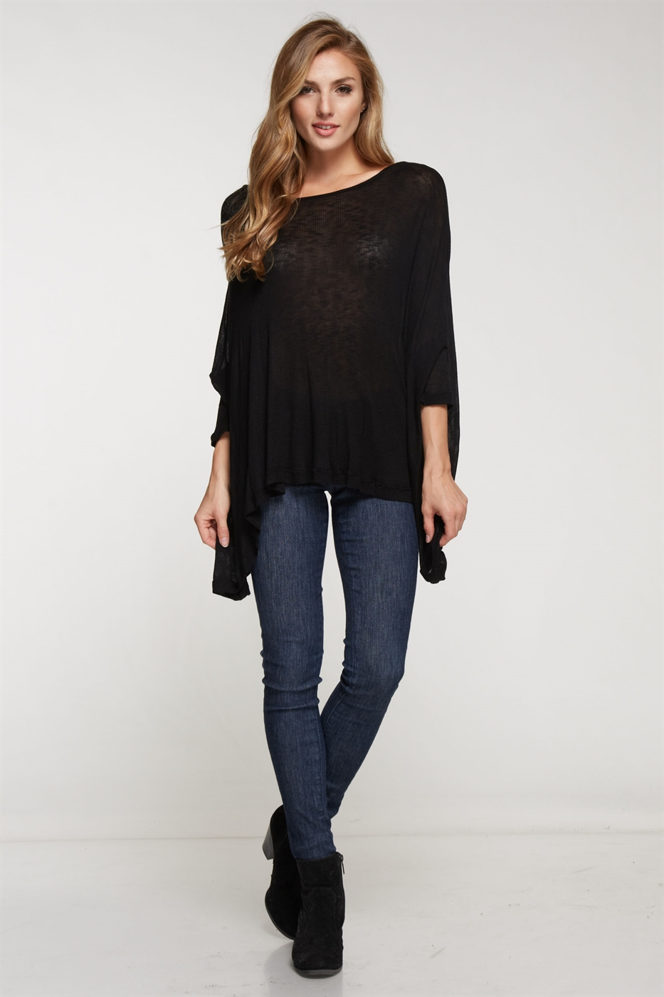 SLOUCHY RIBBED KNIT TOP - orangeshine.com