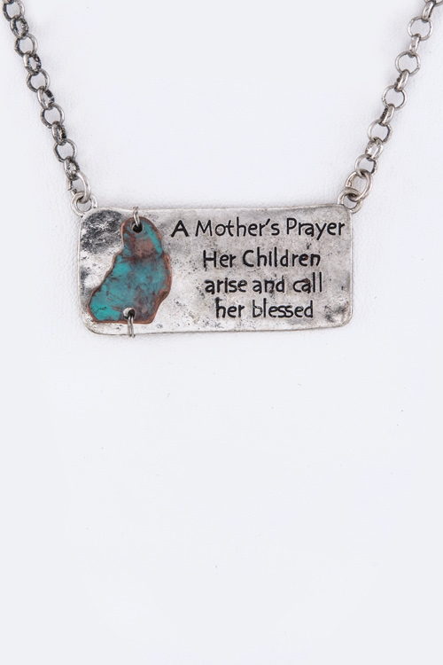 Mothers Prayer Tag Necklace S - orangeshine.com