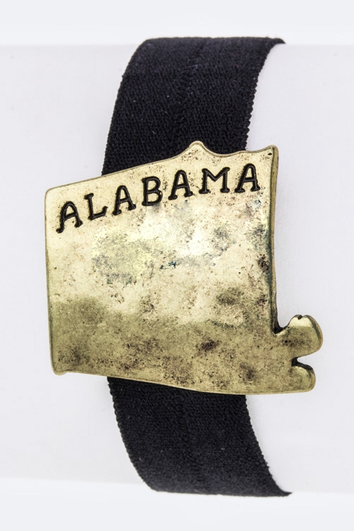 Alabama Map Stretch Hair Tie B - orangeshine.com