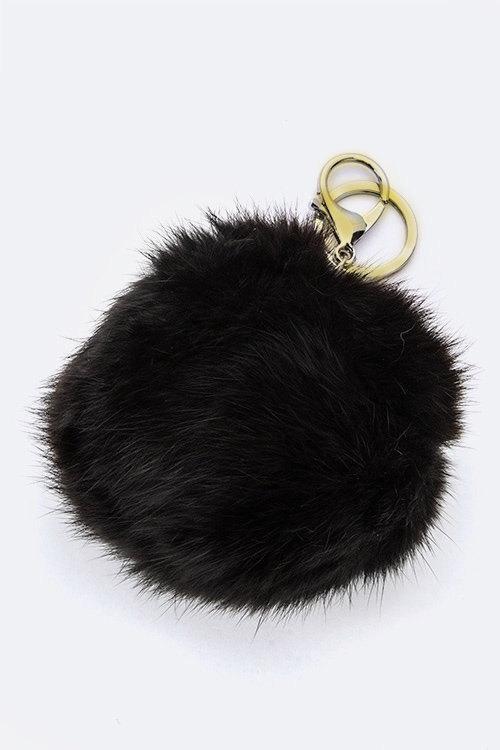 FUR BALL KEY CHARM - orangeshine.com