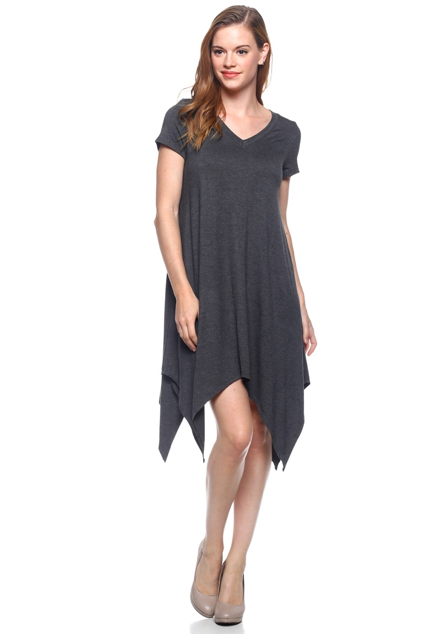 V Neck Rayon Dress - orangeshine.com