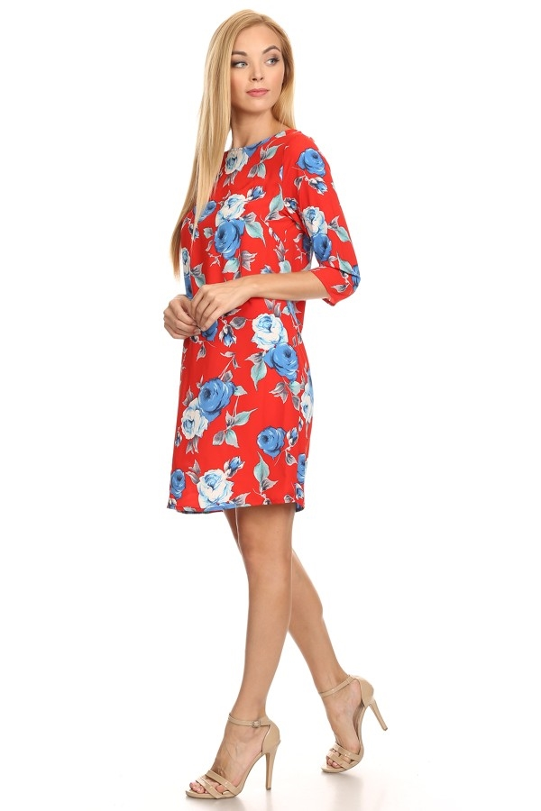 Shift Floral dress - orangeshine.com