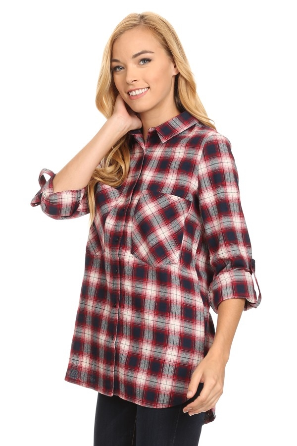 Womens  Boyfriend Plaid - orangeshine.com
