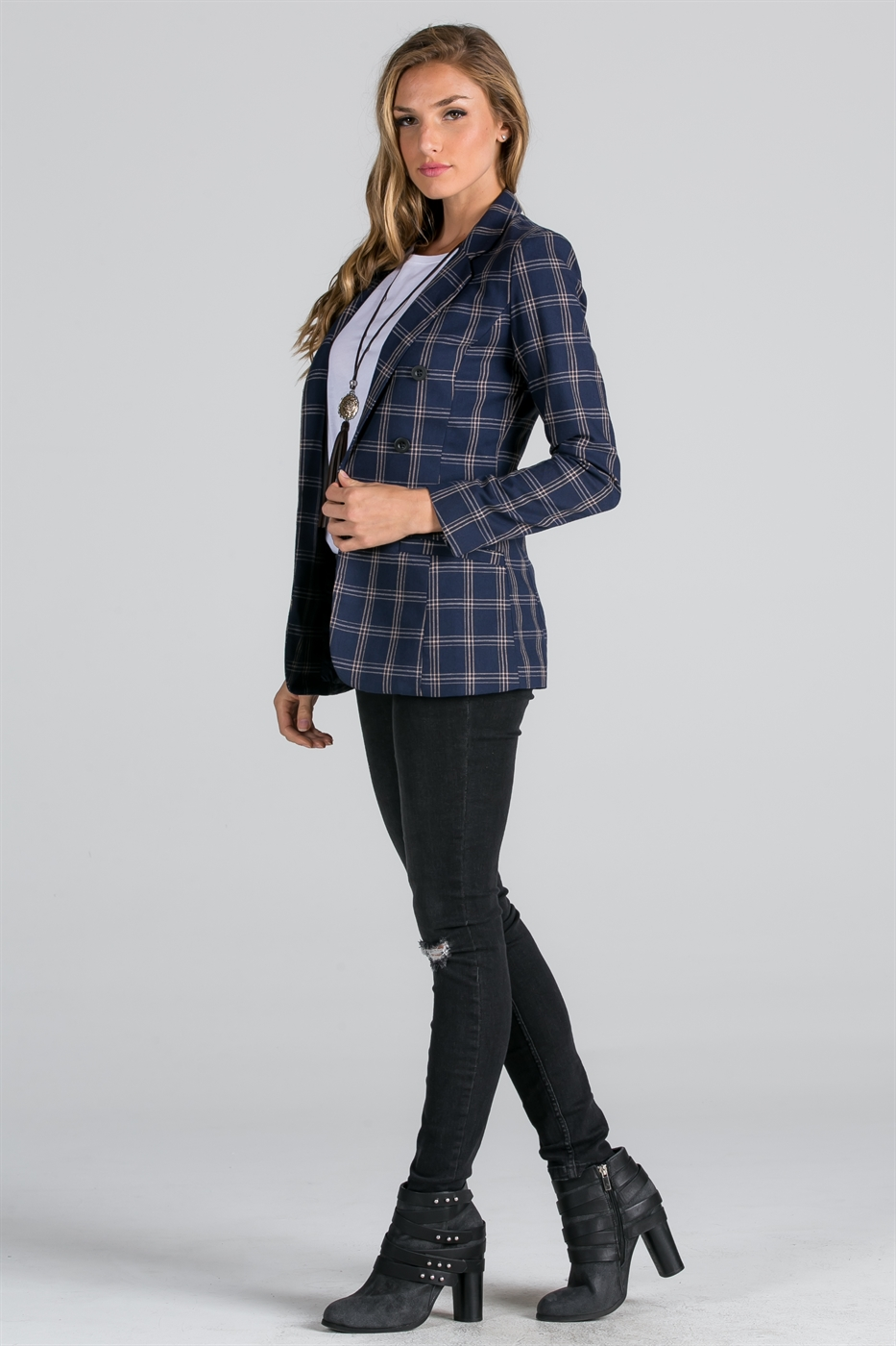 double breast blazer - orangeshine.com