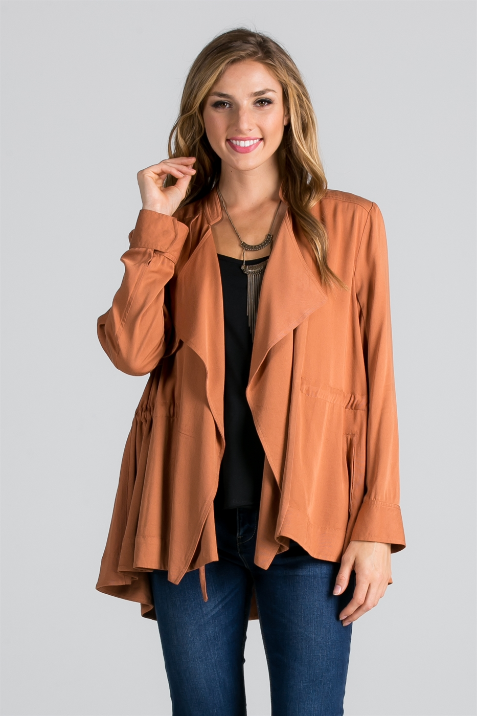 SWING AMBER RUCHED JACKET - orangeshine.com