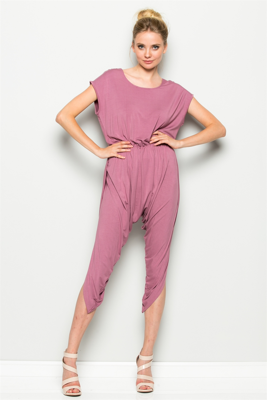 HAREM WAISTED JUMPSUIT - orangeshine.com