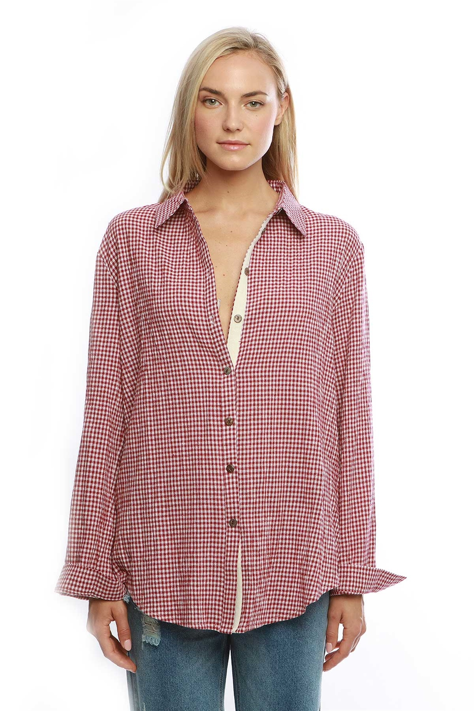 Button down tunic top - orangeshine.com