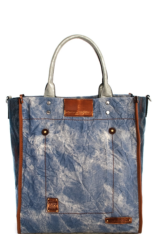 Fashion Wrinkle Denim Tote - orangeshine.com