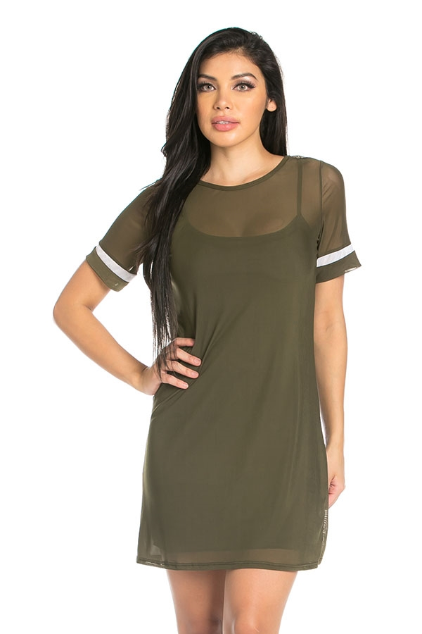 Casual mesh dress - orangeshine.com