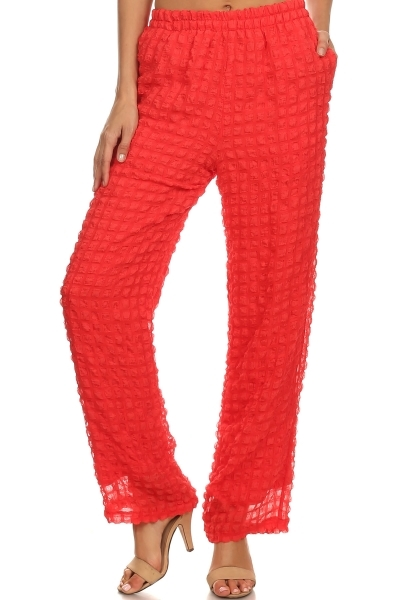 Textured Pants - orangeshine.com