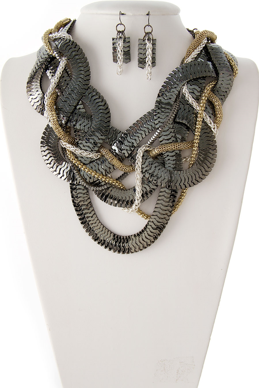 BRAIDED MESH NECKLACE - orangeshine.com